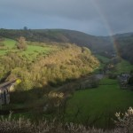 Rainbow over Monsal Dale. Peak District of Derbyshire, UK, 2012.