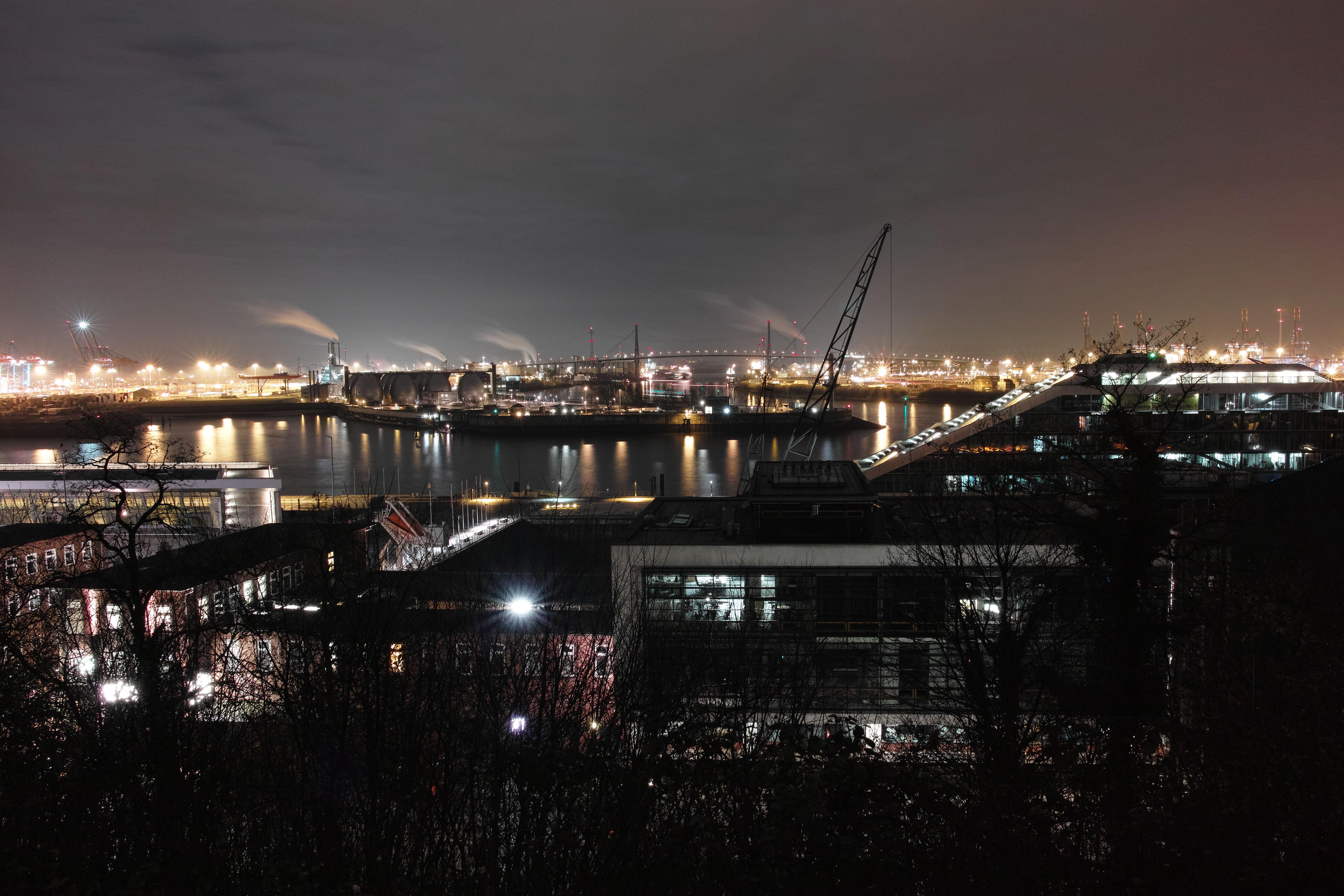 Port of Hamburg, view from Altona