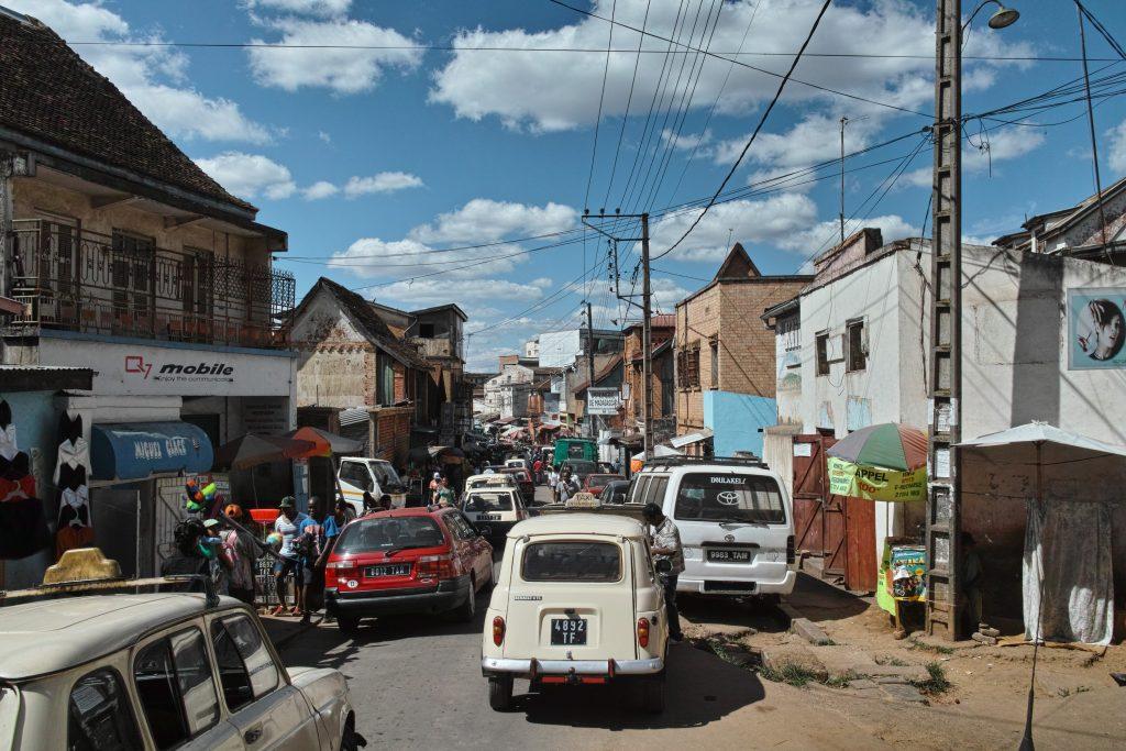 Street in Antananarivo, capital of Madagascar