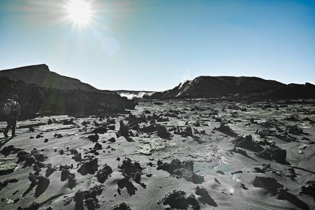 In the caldera of the Mount Karthala at 2,300 meters