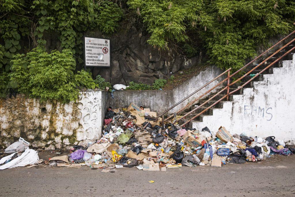 Waste problem everywhere. Mutsamudu, Anjouan