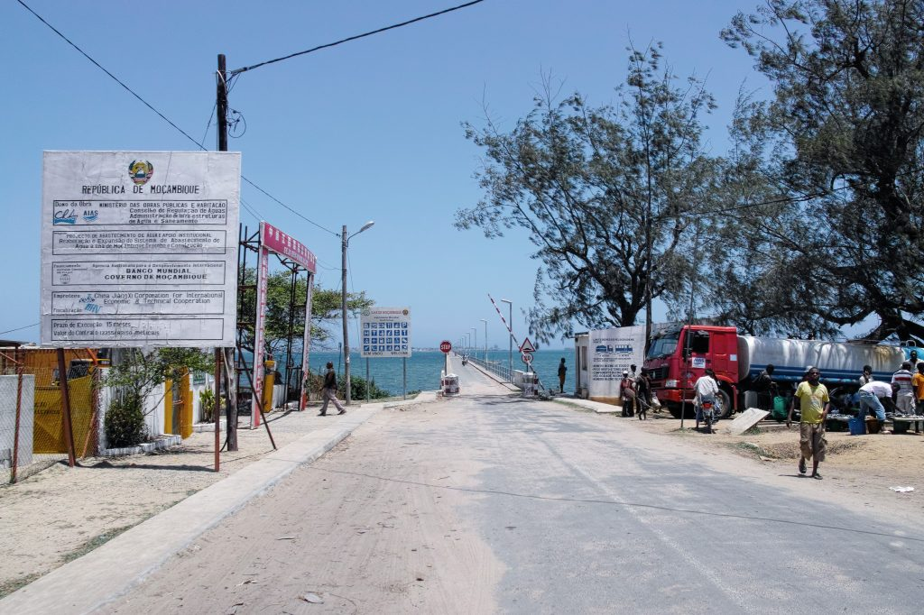 The bridge to Mozambique Island
