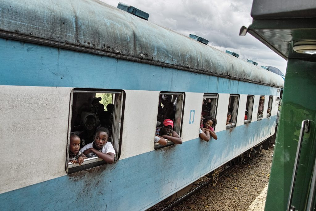 On the train from Nampula to Cuamba