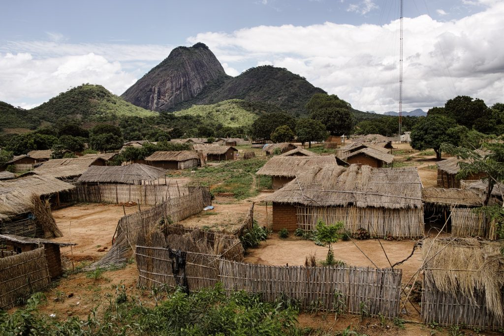 Village seen from the train from Nampula to Cuamba