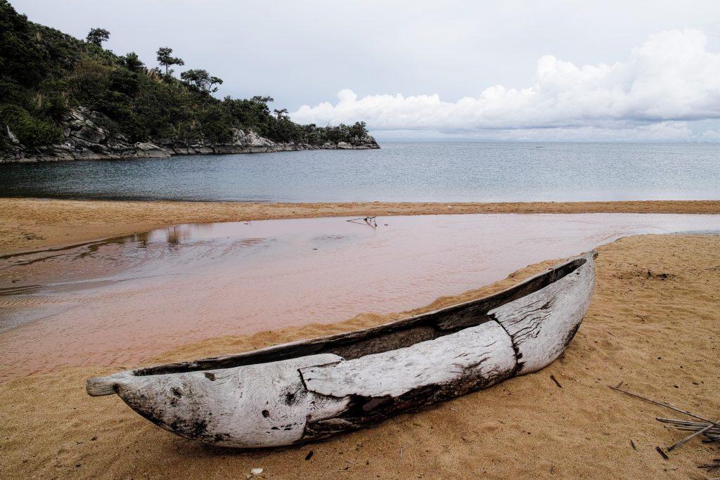 Dugout canoe at the Lake Malawi