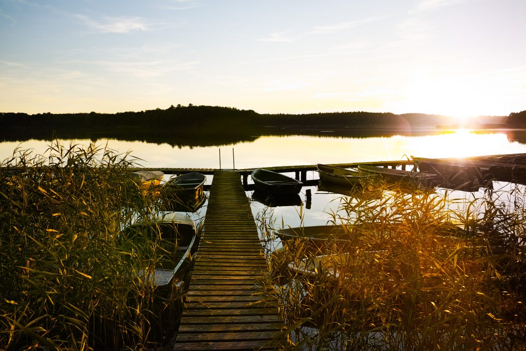 Sunset at the Schaalsee in September