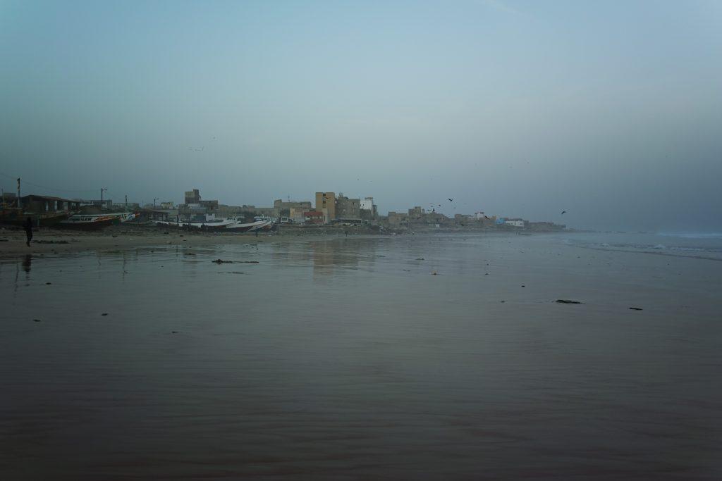 Beach of Yoff before sunrise