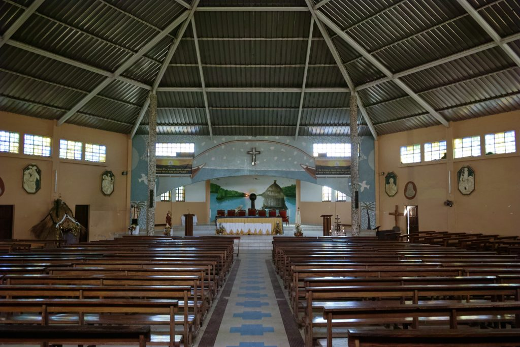 Inside the church on the island of Fadiouth