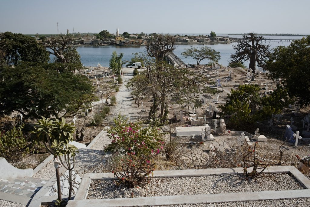 Cemetery on the island of Fadiouth